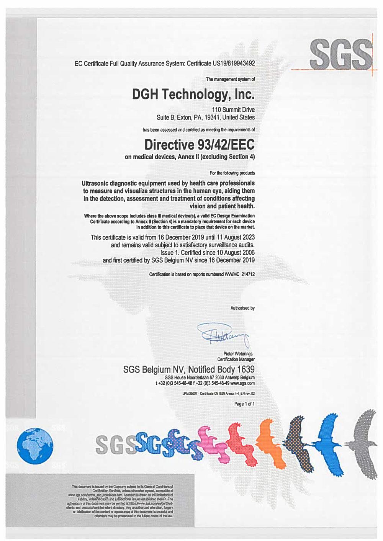 EEC Certificate